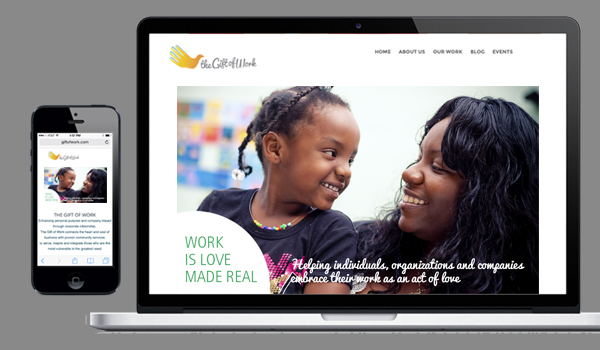 The Gift of Work responsive home page