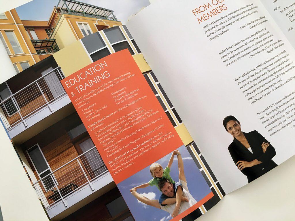 AHMA-NCH printed membership brochure by Alvalyn Lundgren