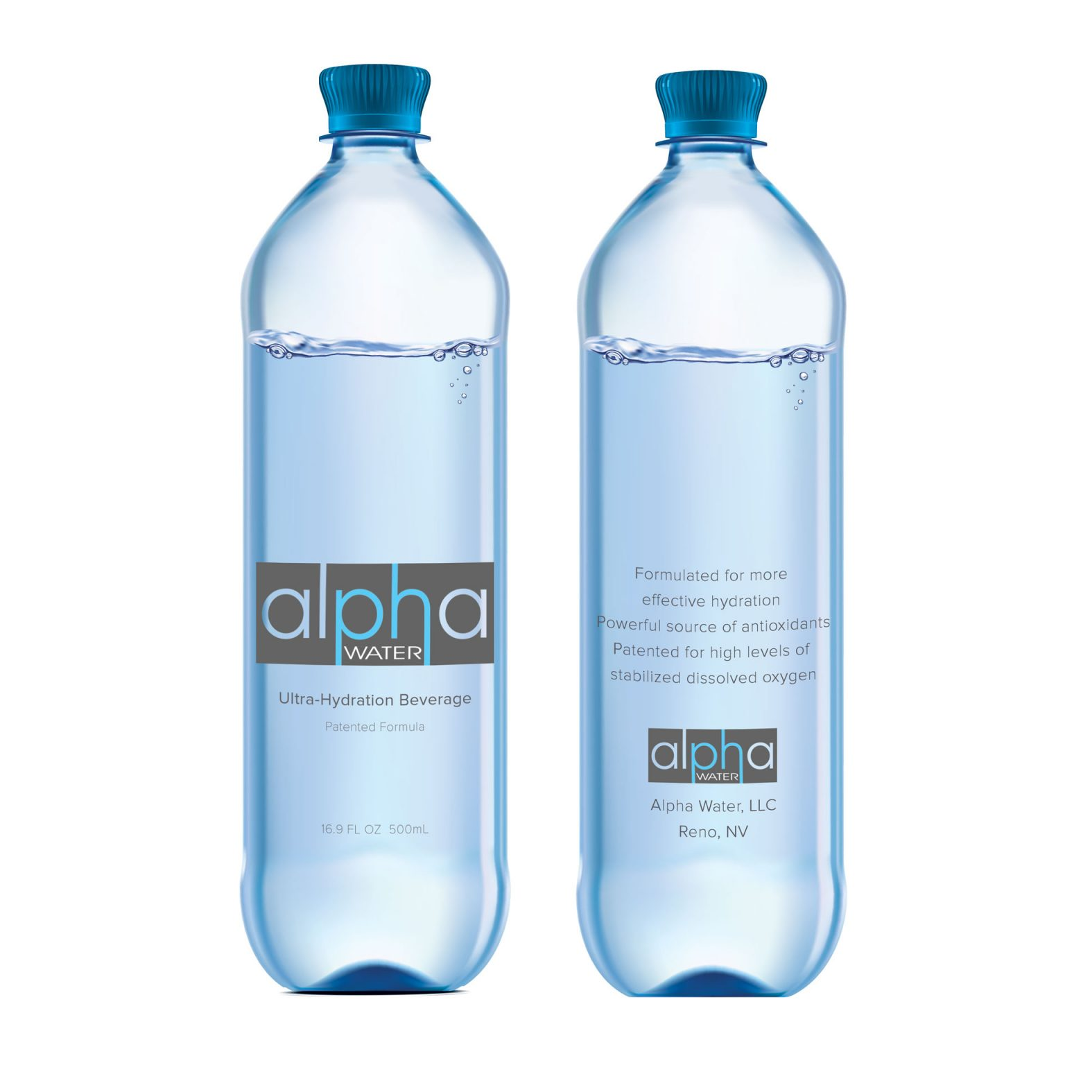 AlphaWater packaging by Alvalyn Lundgren