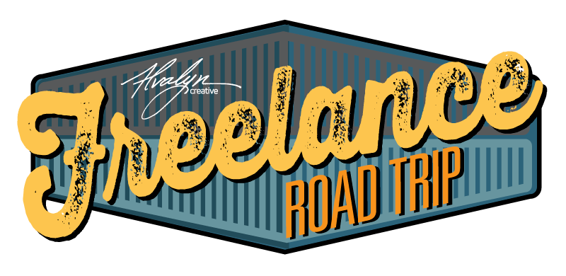 Freelance Road Trip logo designed by Alvalyn LUndgren