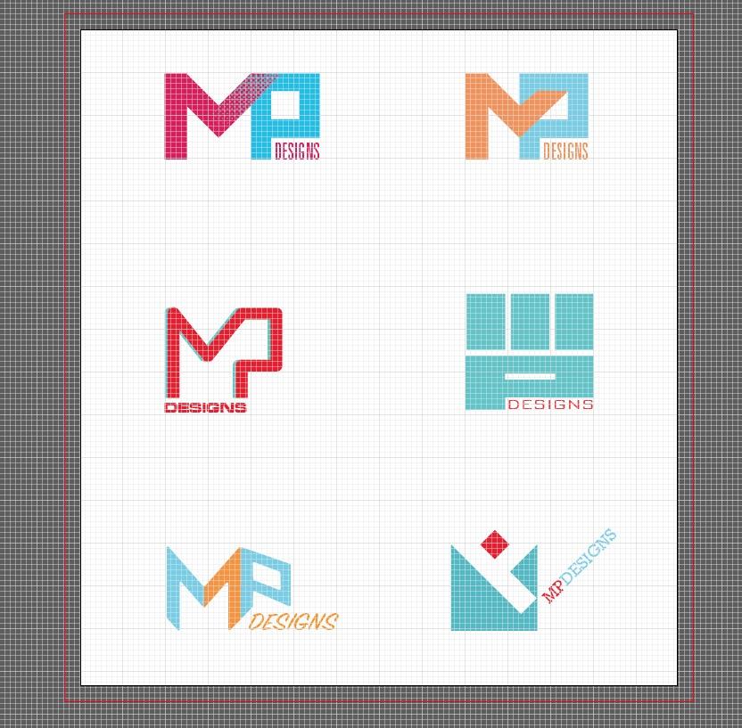 MP Designs Logo Development Process B by Alvalyn Lundgren